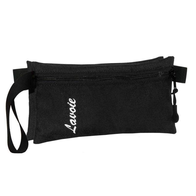 PENCIL CASE DOUBLE BLACK