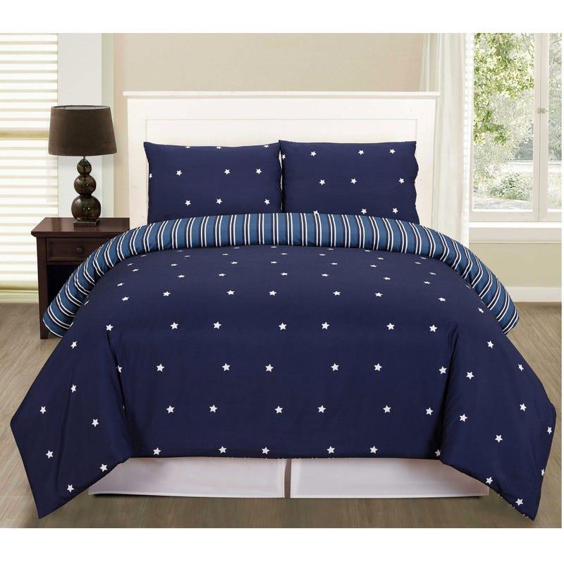 Double Duvet Cover set Co Blue Star