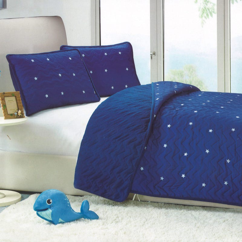 Quilt stars Navy twin