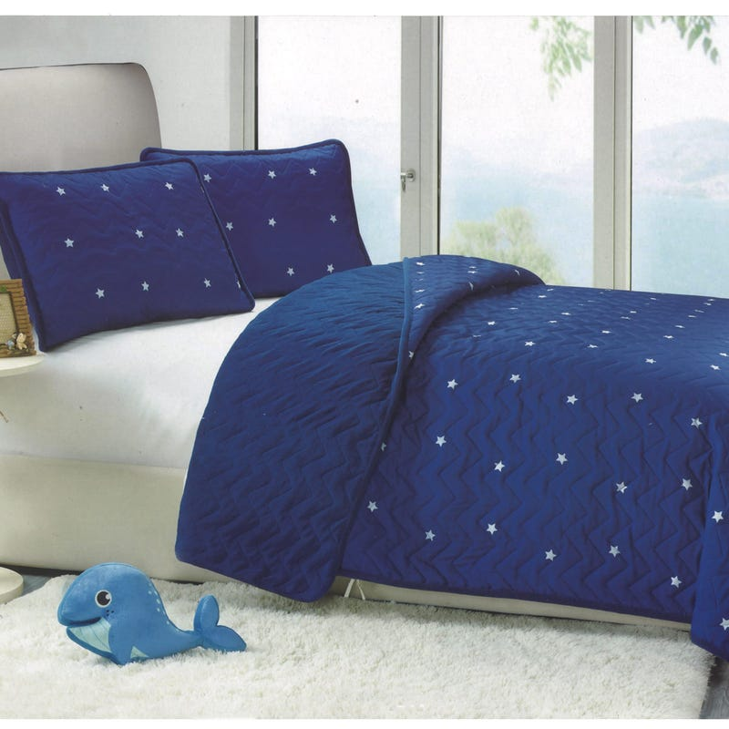 Double-Queen Quilt stars - Navy