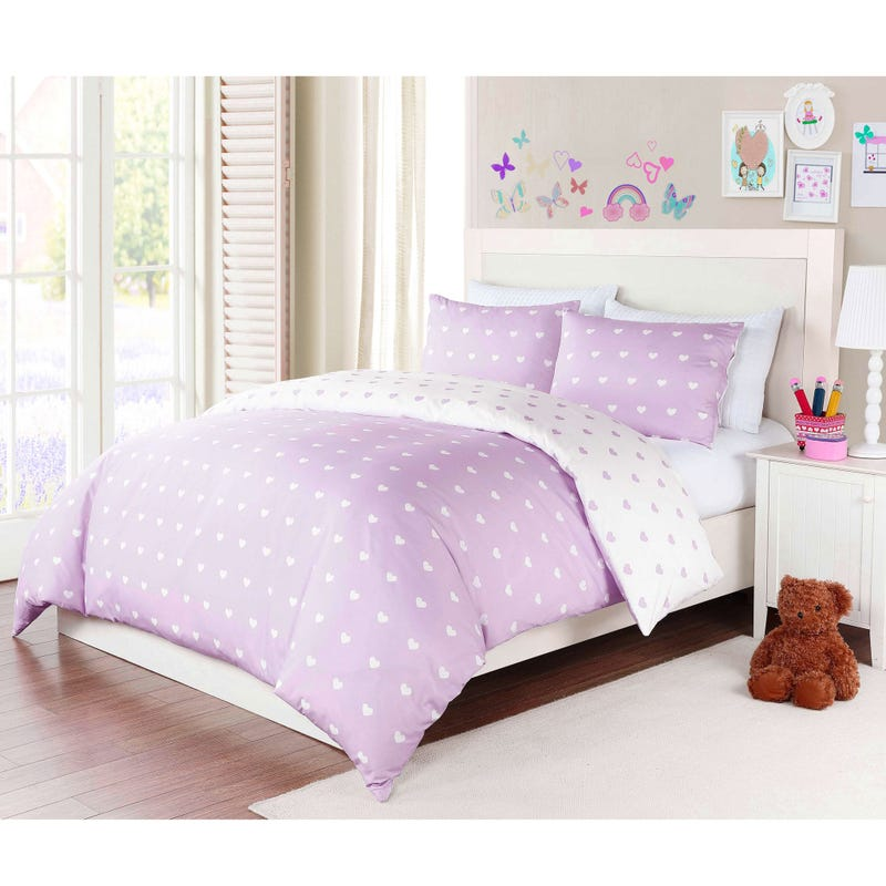 "Housse 54-60"" Co Coeur Lilas"