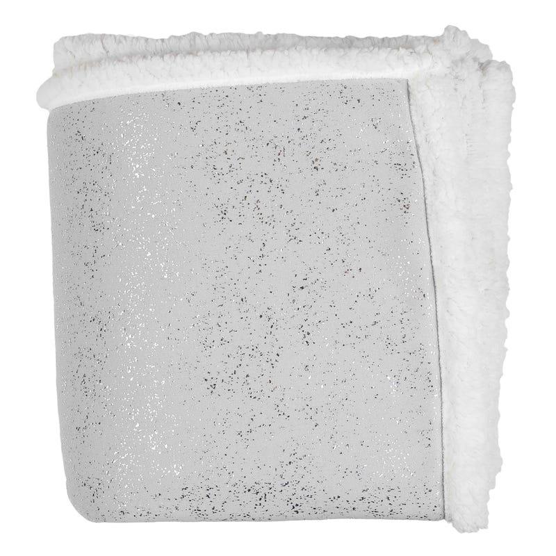Plush Throw Maddie  - Gray/Silver