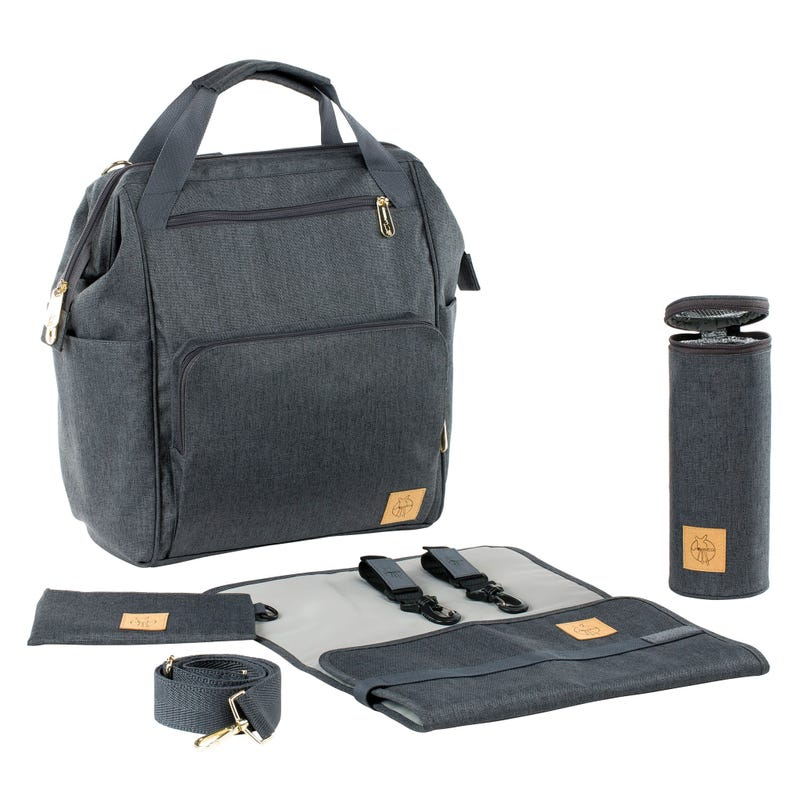 Diaper Backpack Goldie - Anthracite