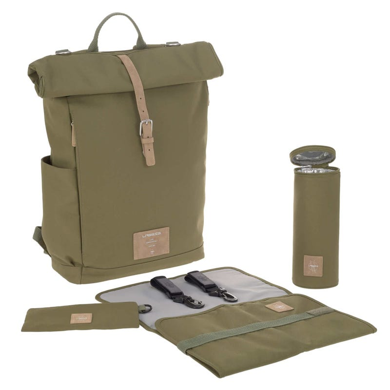 Sac À Couches Rolltop - Olive