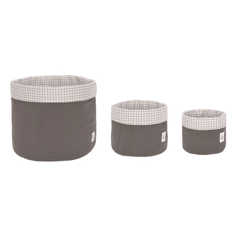 Storage Basket 3-Pack - Anthracite