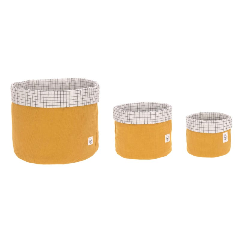 Storage Basket 3-Pack - Mustard