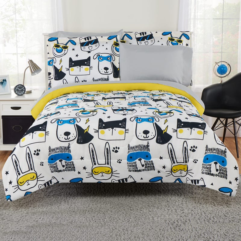 5-Pieces Twin Comforter Set - Animal