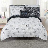Cat 8-Pieces Double Comforter Set - Black/White
