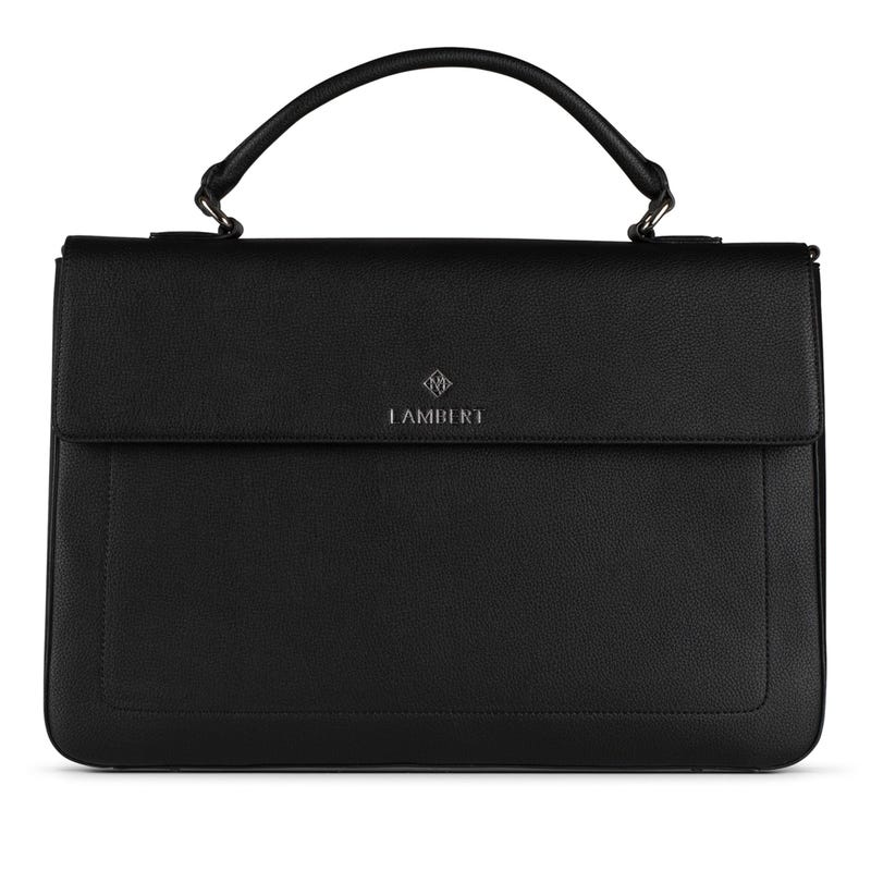Alex Vegan Briefcase - Black