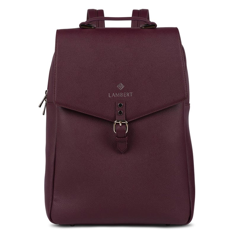 Jade Vegan Backpack - Burgundy