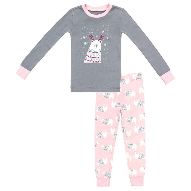 2 Pieces Pajama Set 2-6y - Polar Bear