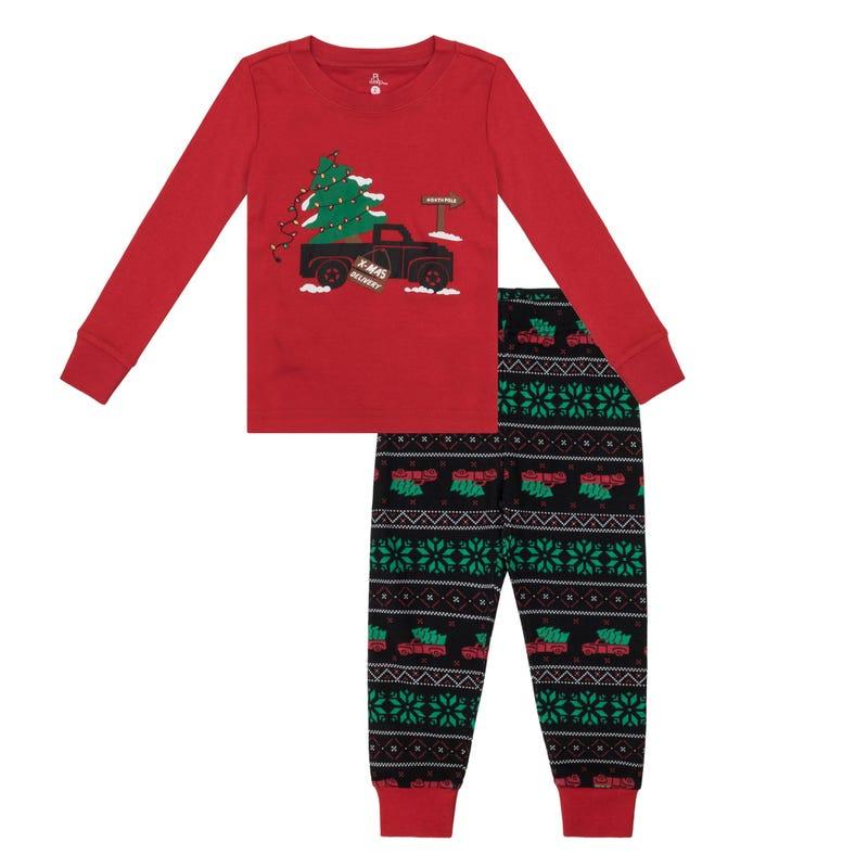 Truck 2pcs Pajamas 2-14