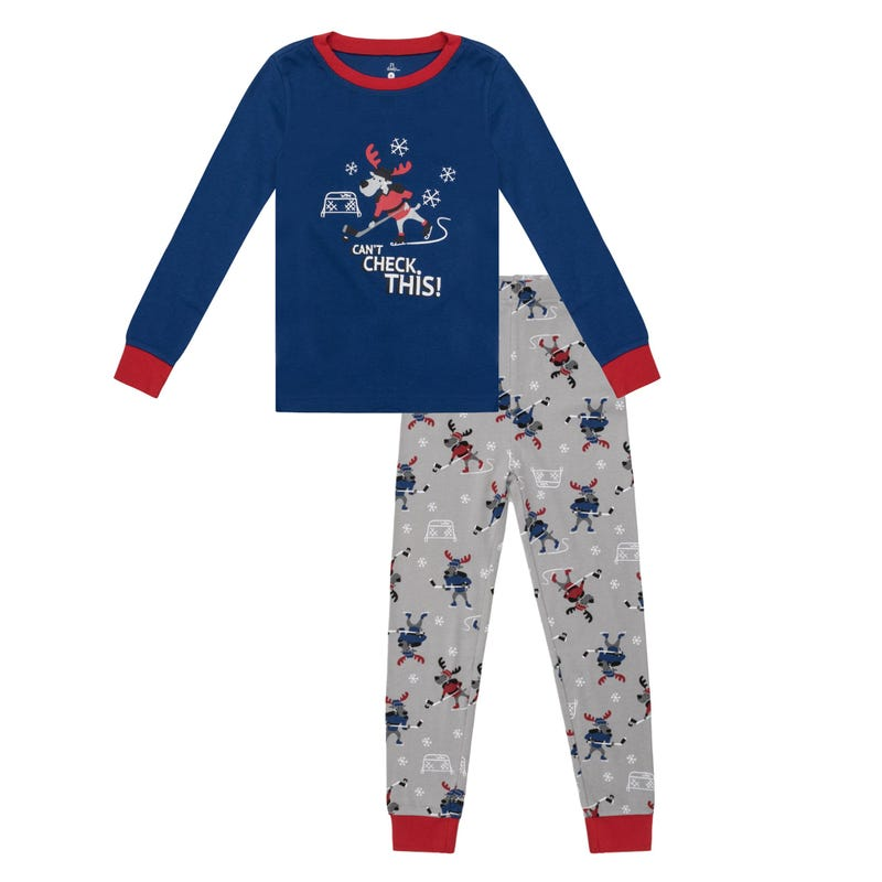 Hockey 2pcs Pajamas 2-14