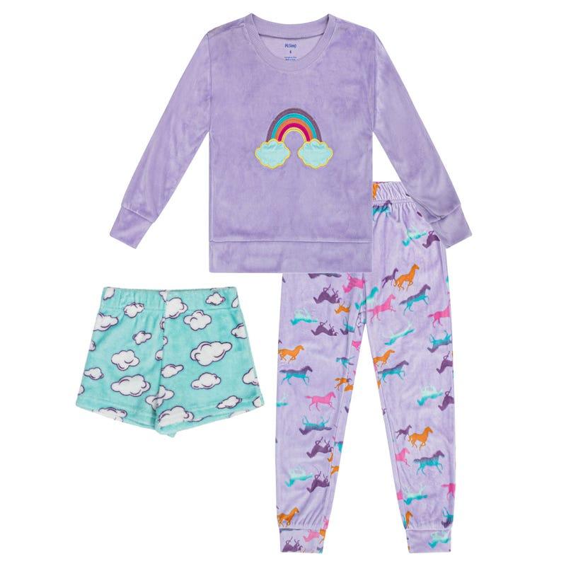 Pyjama 3 Pièces Arc-en-Ciel 4-14ans