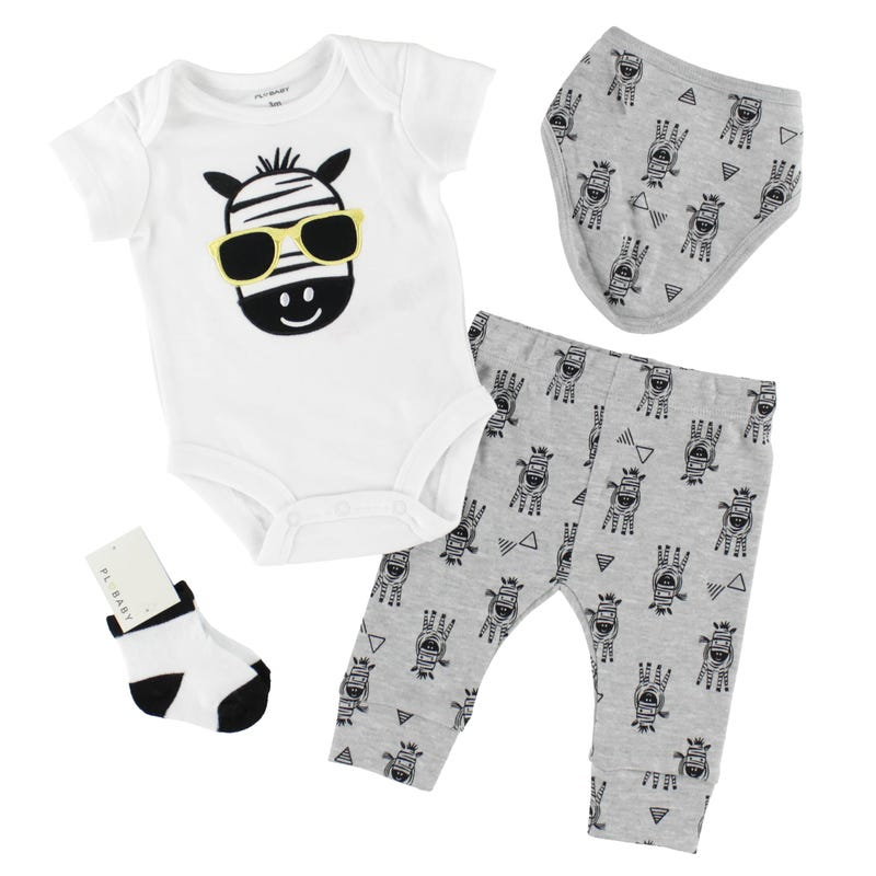 Zebra Pants Set 3-9m