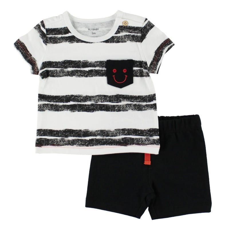 Striped Short Set 3-24m