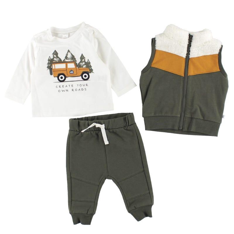 Ensemble Pantalon 3 pièces Camouflage 3-24mois