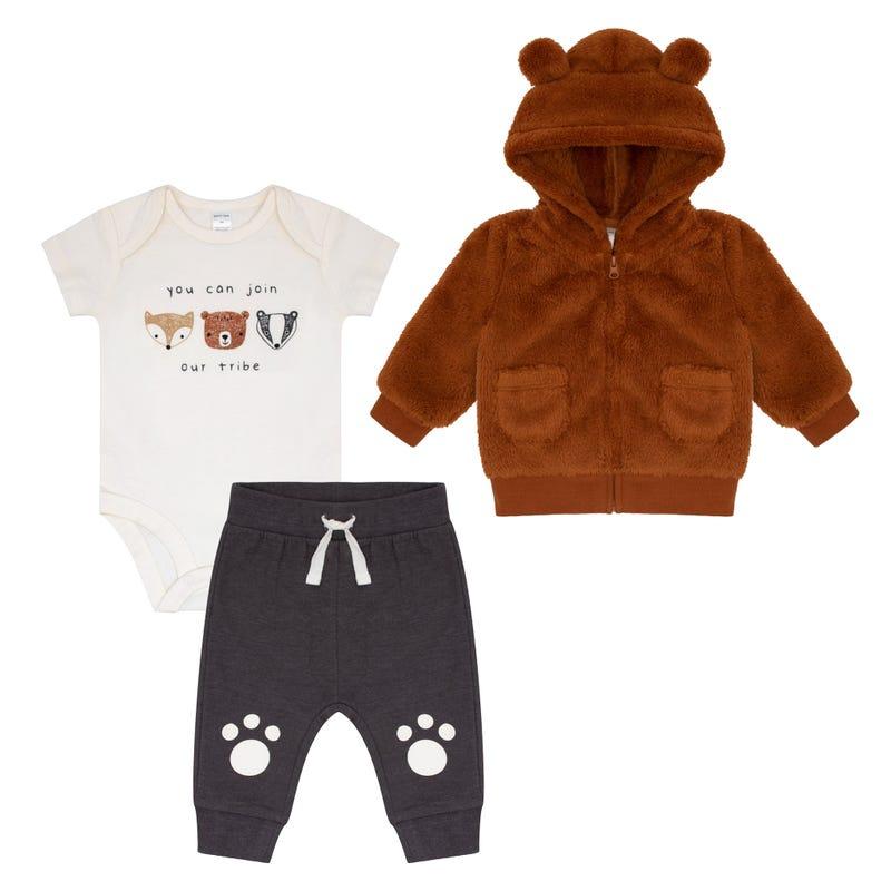 Bear 3 Pieces Pants Set 3-24m