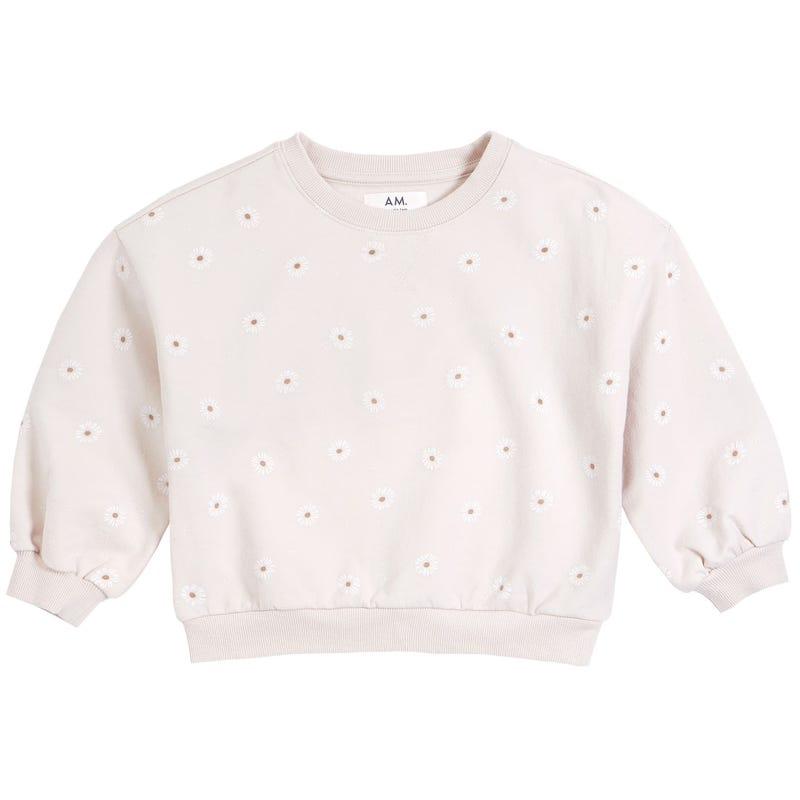 AM Daisies Sweatshirt 3-6x