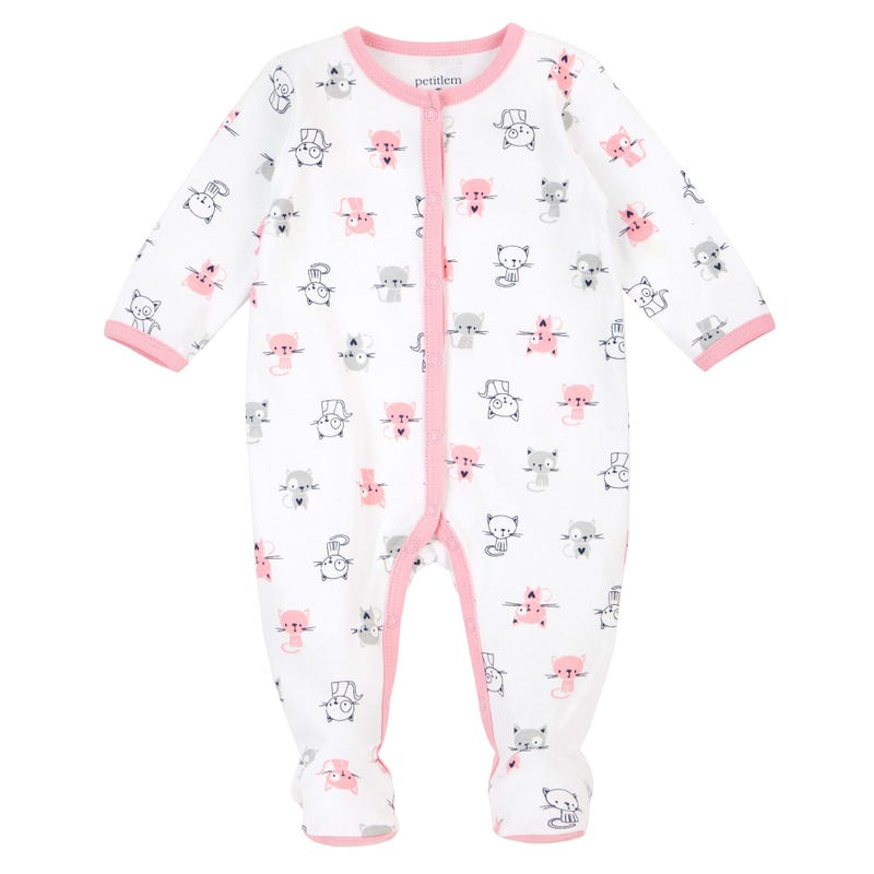Pyjama Imprimé Chaton 0-6mois