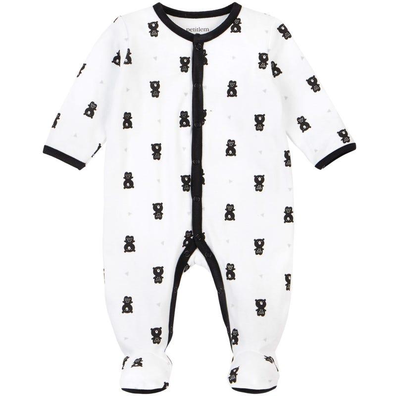Pyjama Imprimé Ourson 0-6mois