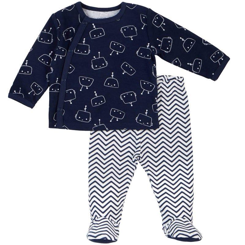 Pyjama 2 Pièces Imprimé Robot 0-6mois