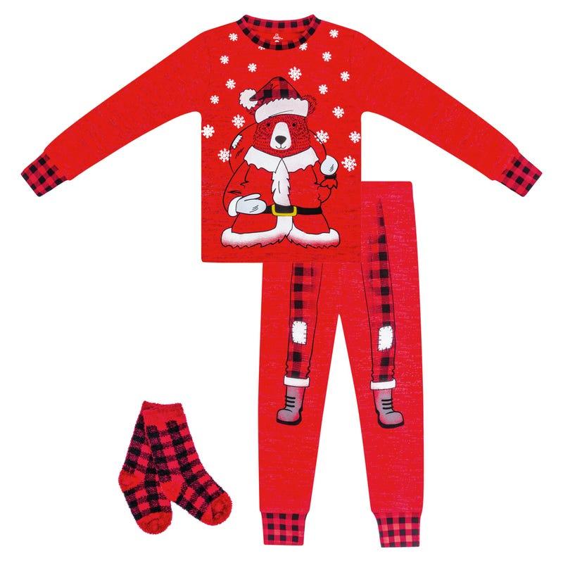 Santa Claus 2 Pieces Pajama Set 12-24m