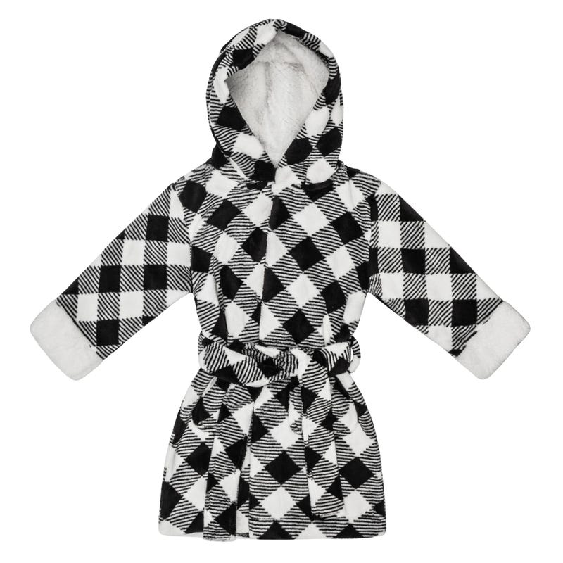 Plaid Dressing Gown 2-7y