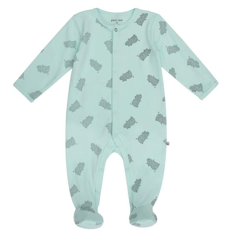 Hippo Print Pyjamas NB-9m