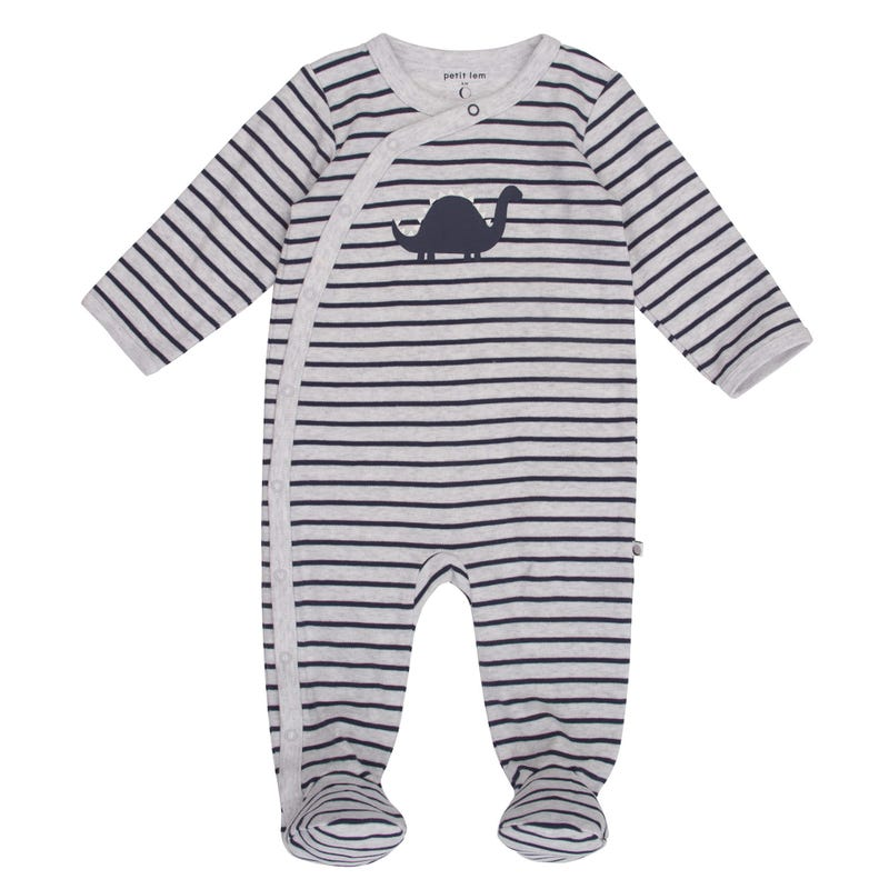 Dino Striped Pyjamas NB-9m