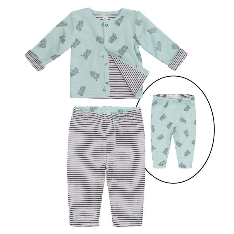 Pyjama 2 Pièces Imprimé Hippo 0-9mois