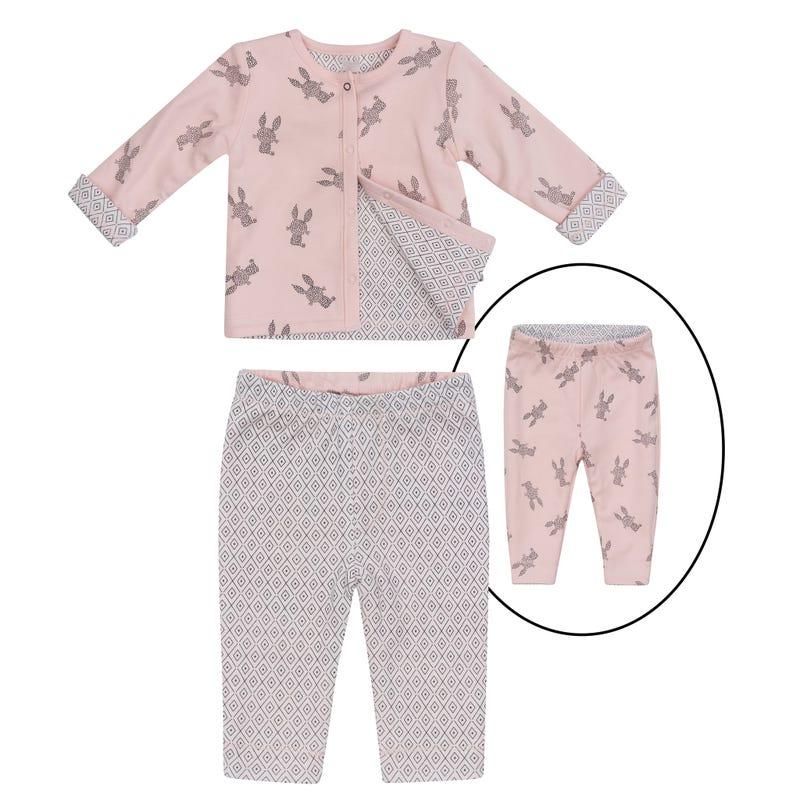 Pyjama 2 Pièces Imprimé Lapin 0-9mois