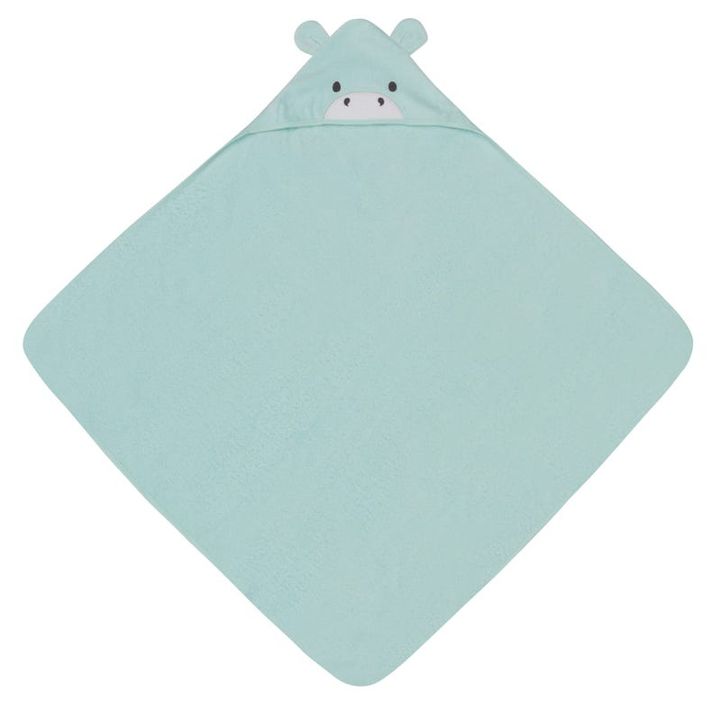 Happy Hippo Hooded Towel with Organic Terry Cotton