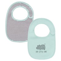 Happy Hippo Bibs with Organic Cotton 0-6months Set of 2