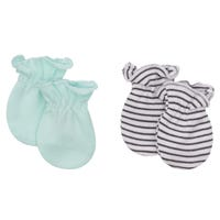 Hippo Anti-Scratch Mitts Set of 2 0-3m