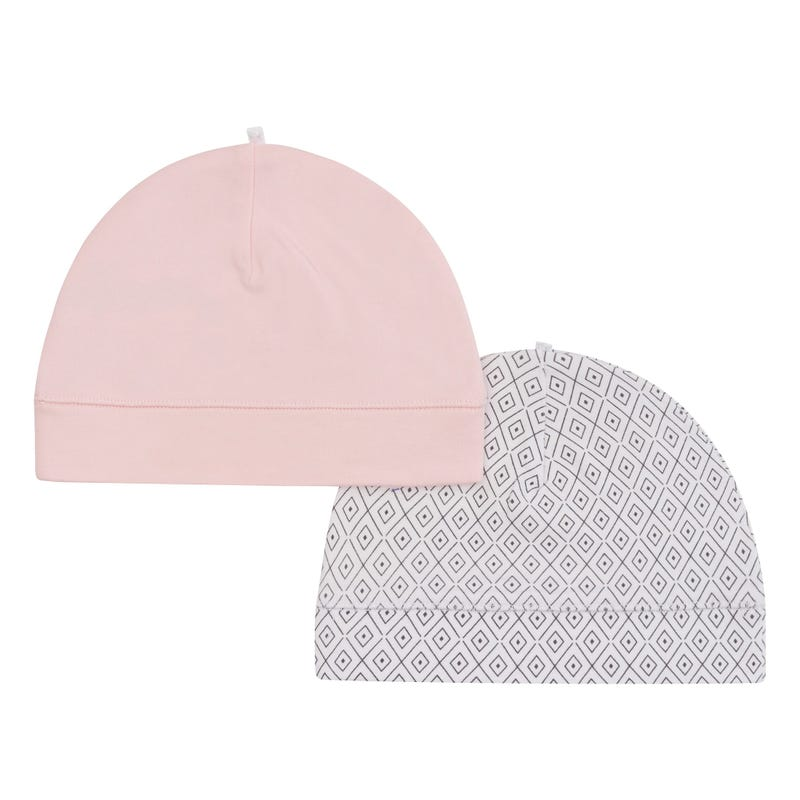 Rabbit Beanies Set of 2 0-3m