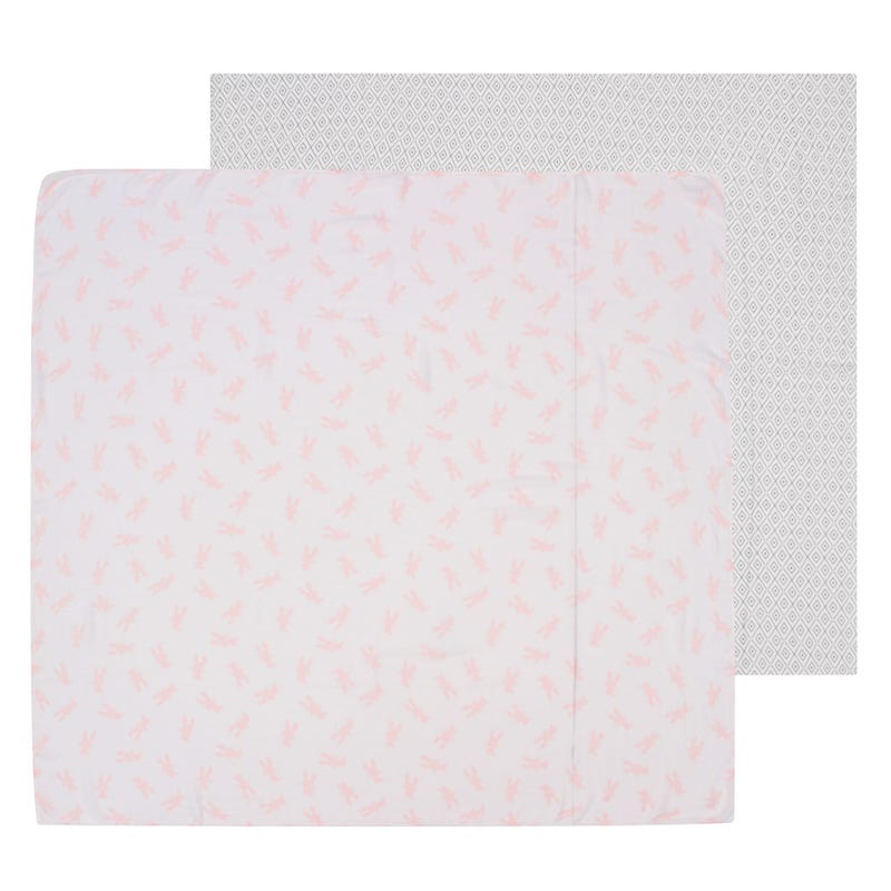 Honey Bunny Multi-Use Muslin Swaddles Set of 2