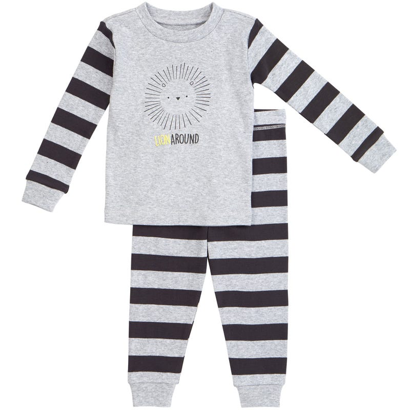 Lion Striped 2pcs Pajamas 1224