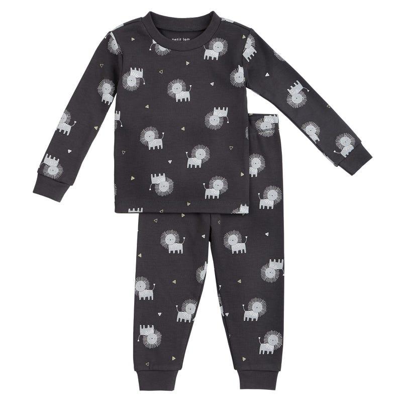 Leo printed 2pcs pajamas 12-24
