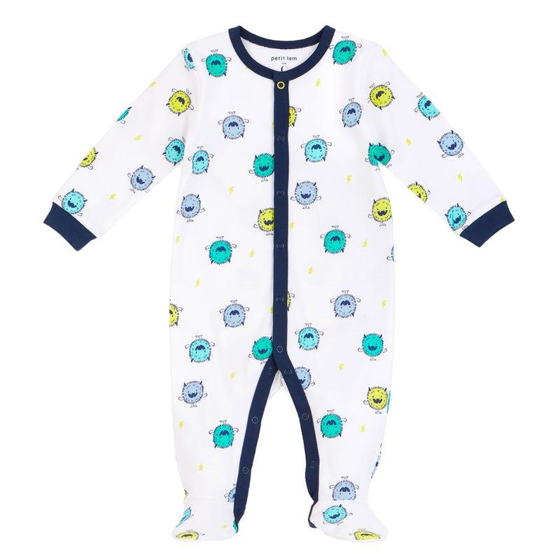 Pyjama Imprimé Monstre 0-9mois