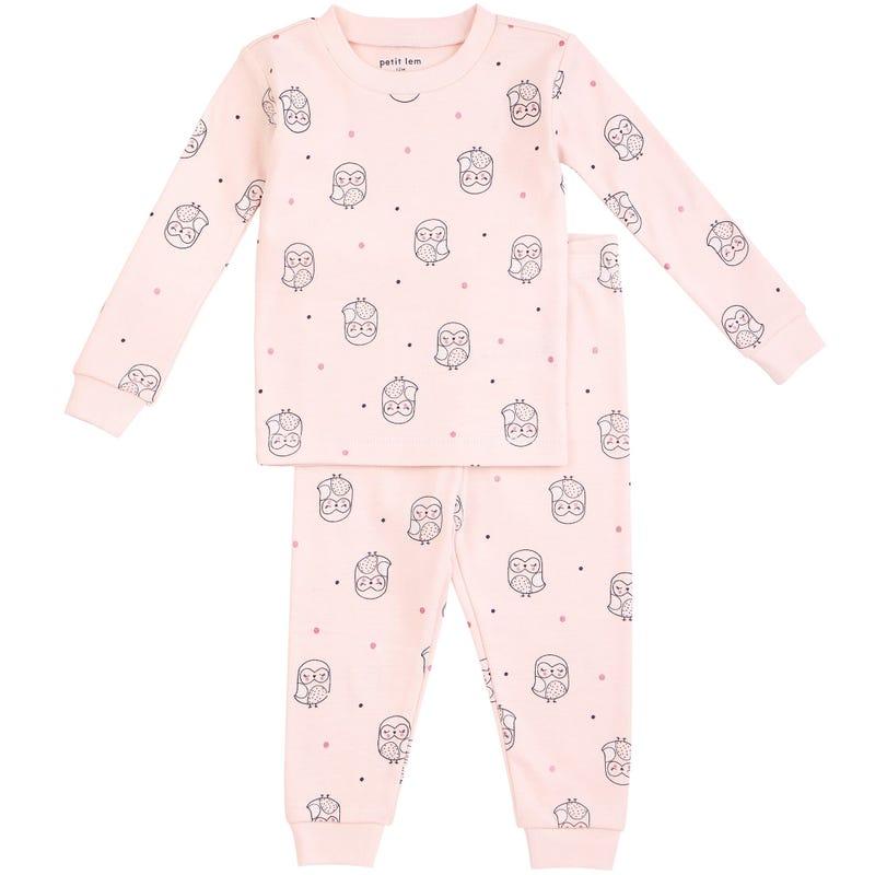 Owl Printed 2 Pieces Pajama Set 12-24m