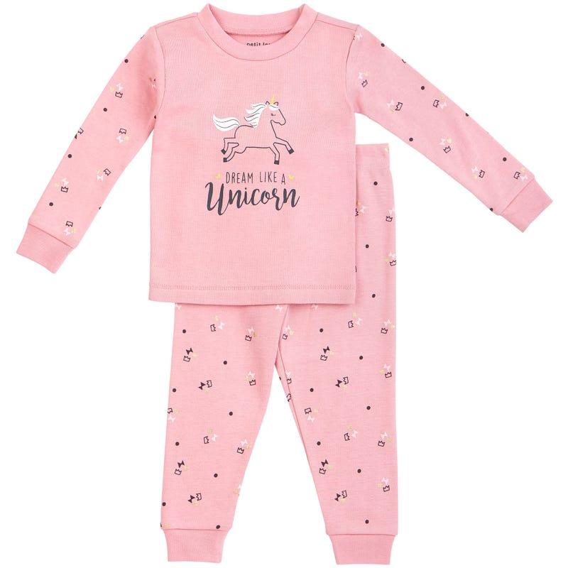 Pyjama 2 Pièces Licorne 12-24mois