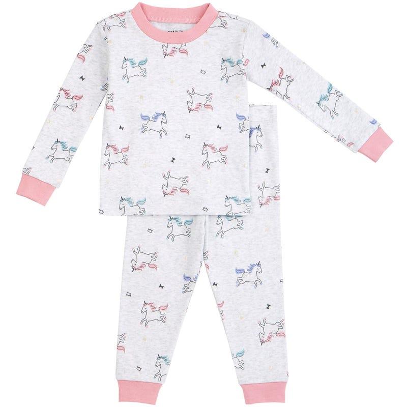 Pyjama 2 Pièces Imprimé Licorne 12-24mois