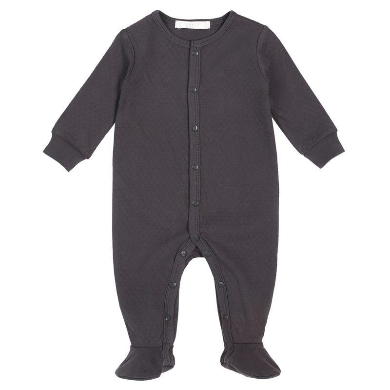 Apple Grey Pajamas 0-9m