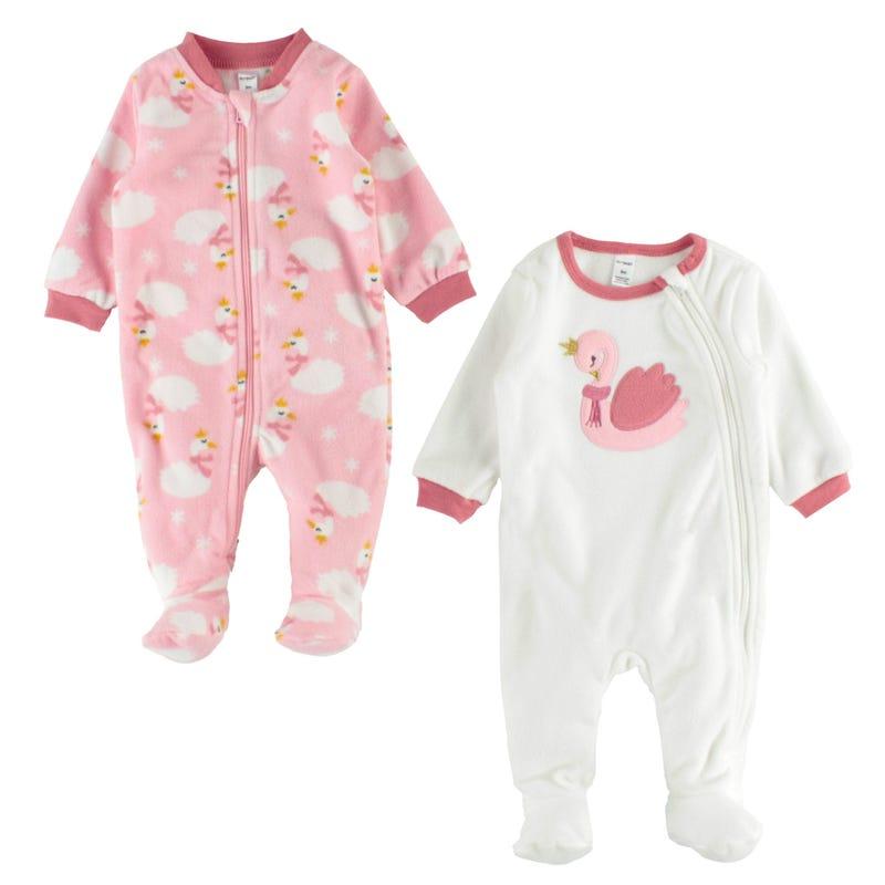 Pyjama Ens 2 Cygne 3-24mois