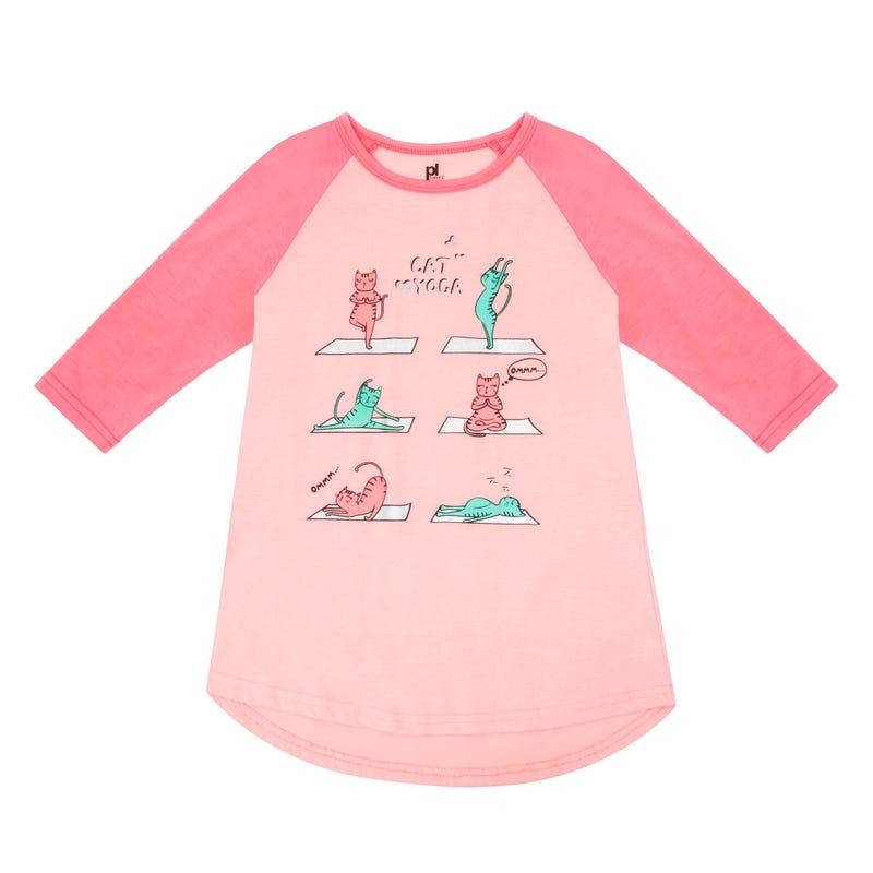 Yoga Cats Nightgown 4-6x