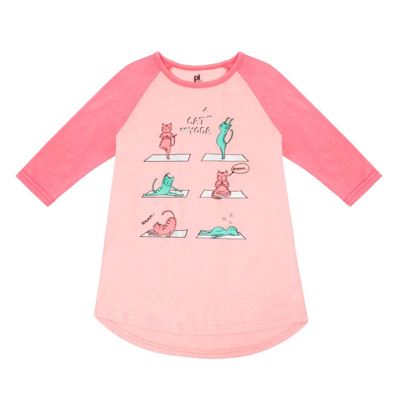 Yoga Cats Nightgown 4-6x