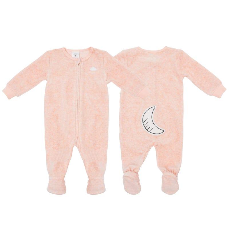 Pink Velvet Pajamas 0-24m