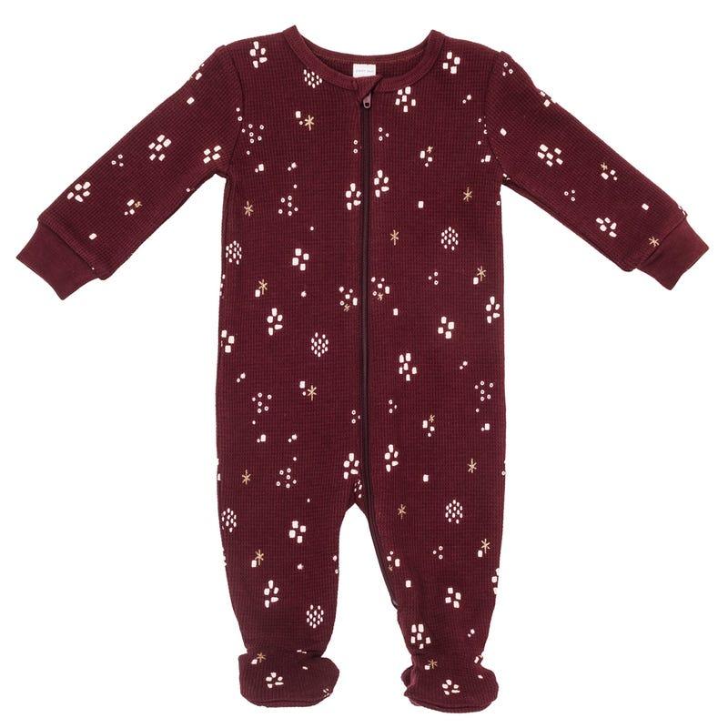 Burgundy Thermal Pajamas 0-24m