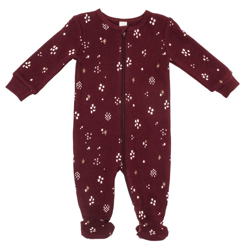 Pyjama Thermal bordeaux 0-24m